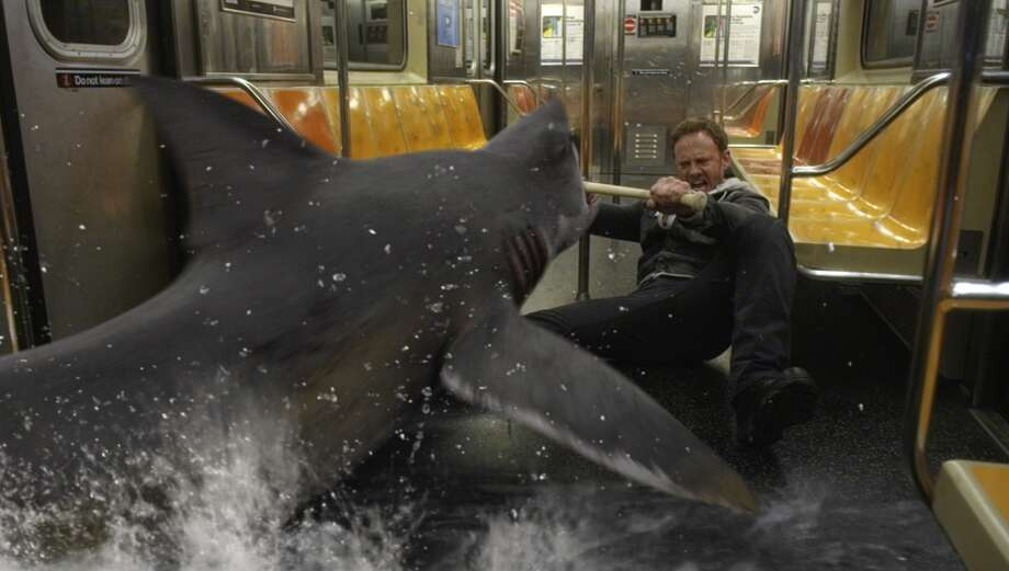 SHARKNADO 2: THE SECOND ONE -- Pictured: Ian Ziering as Fin Shepard -- (Photo by: Syfy) Photo: Syfy