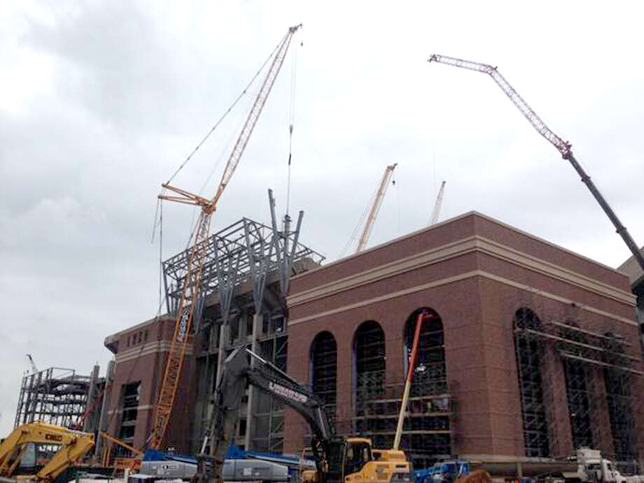 Renovations of east side of Kyle Field as of May 12, 2014. Photo: Brent Zwerneman, San Antonio Express-News / San Antonio Express-News