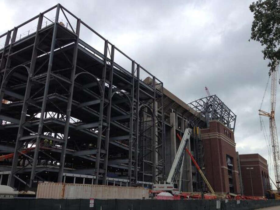 Kyle Field renovations as of May 12, 2014. Photo: San Antonio Express-News
