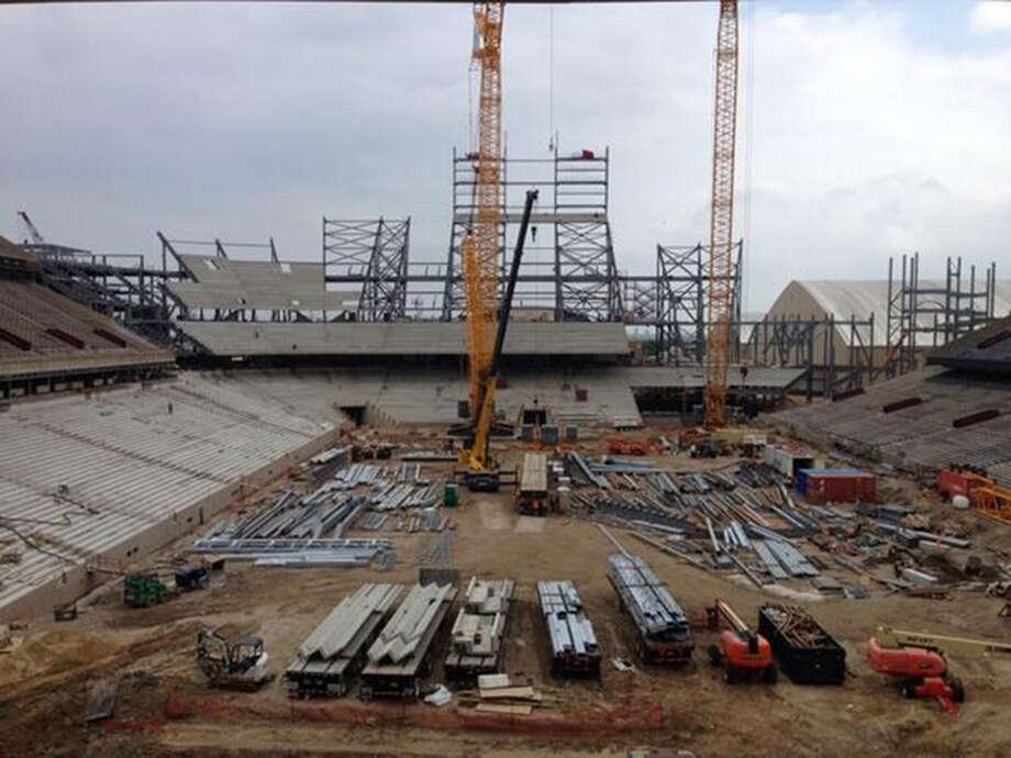 Kyle Field renovations as of May 12, 2014. Photo: Brent Zwerneman, San Antonio Express-News / San Antonio Express-News