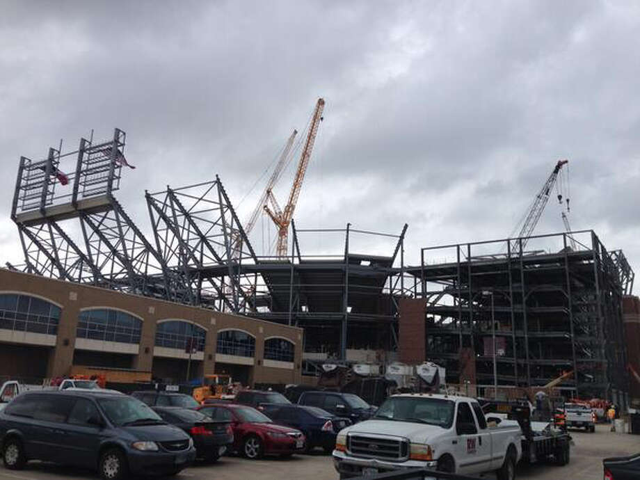 Kyle Field renovations as of May 12, 2014. Photo: Brent Zwerneman, San Antonio Express-News