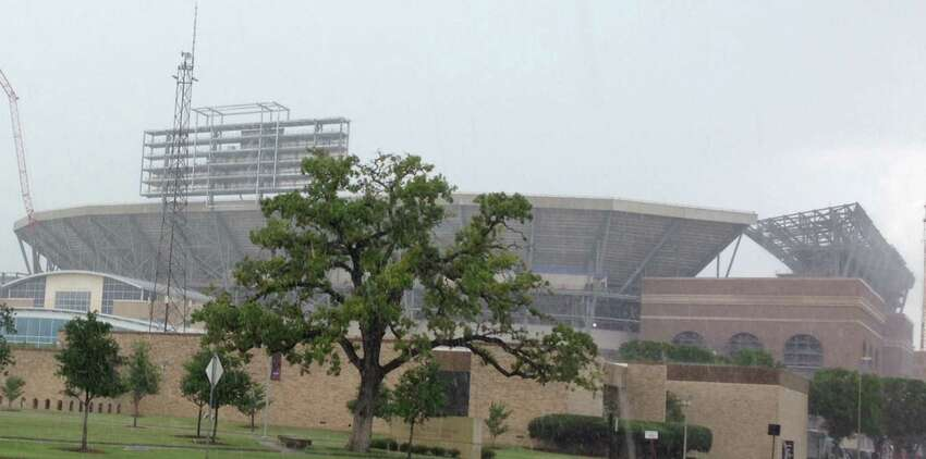 A look at the construction at Kyle Field on July 3, 2014.
