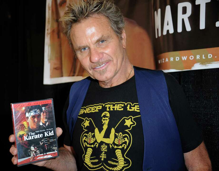 """Kove has since appeared in """"Rambo: First Blood Part II,"""" the """"Karate Kid"""" sequels and at 68, continues to consistently work in TV and movies.And he still looks kind of evil. Also, I want his """"Sweep the leg"""" T-shirt. Photo: Albert L. Ortega, Getty / 2014 Albert L. Ortega"""
