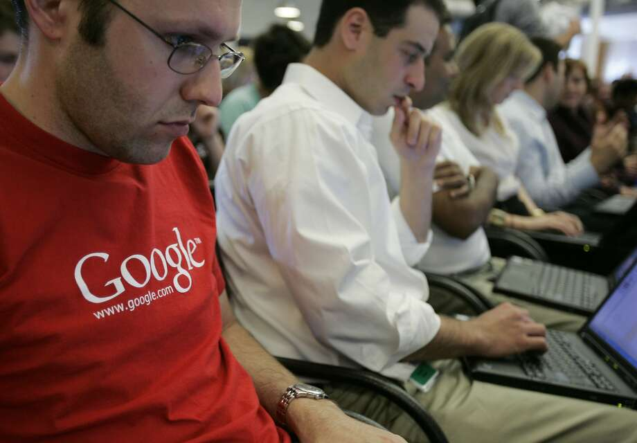 As with most of the major Silicon Valley tech firms, the majority of Google employees are white or Asian and male. Photo: Paul Sakuma, Associated Press