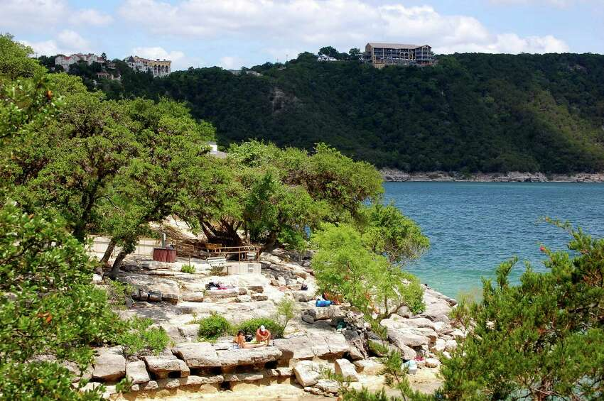 Hippie Hollow Park is the state's only official nude beach, part of Travis Lake in Austin.