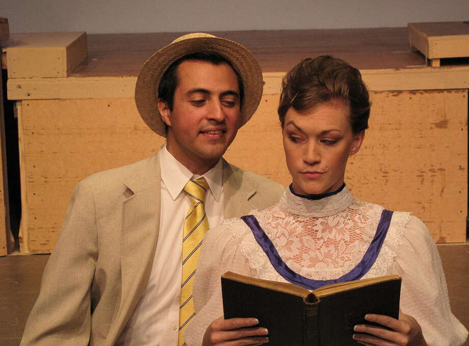 """The sparks fly as Rafael Aguilar and Kristy Ragland star in the """"The Music Man"""" at Circle Arts Theatre. Photo: Courtesy Circle Arts Theatre"""