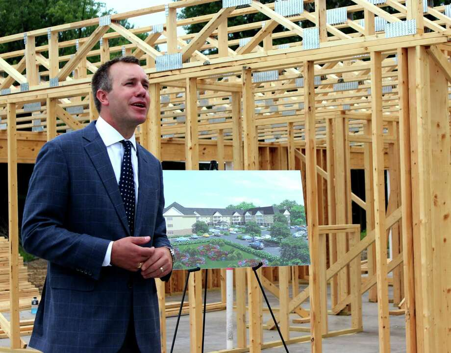 Summit Senior Living, LLC Principal Adam DeSantis announces the construction launch at the site of the Meadows at Glenwych on Tuesday morning, July 15, 2014, in Glenville N.Y. (Selby Smith/Special to the Times Union) Photo: Selby Smith / 00027785A