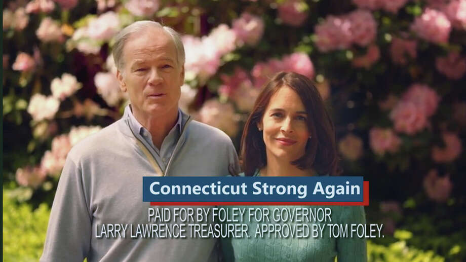 A screen grab from a Tom Foley campaign televison advertisment. Photo: Contributed Photo / The News-Times Contributed