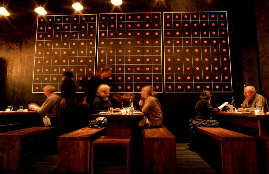 """Since Ume means """"plum"""" in Japanese, Daniel Patterson was able to retain the plum paintings that decorated the restaurant when it was called Plum. Photo: Michael Macor, The Chronicle"""
