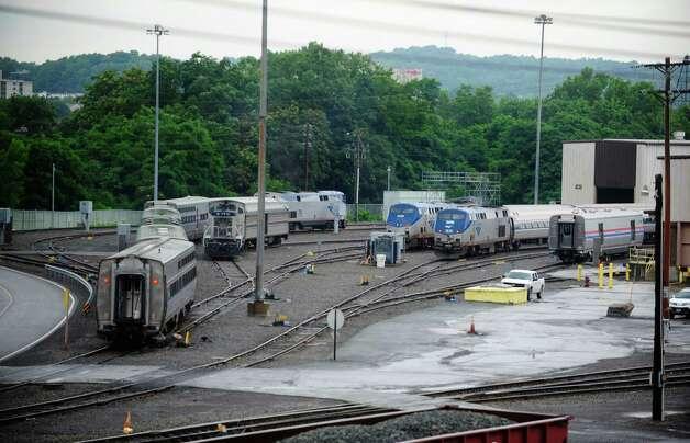 A view of the Amtrak train maintenance yard Tuesday, July 15, 2014, in Rensselaer, N.Y.  (Paul Buckowski / Times Union) Photo: Paul Buckowski / 00027795A