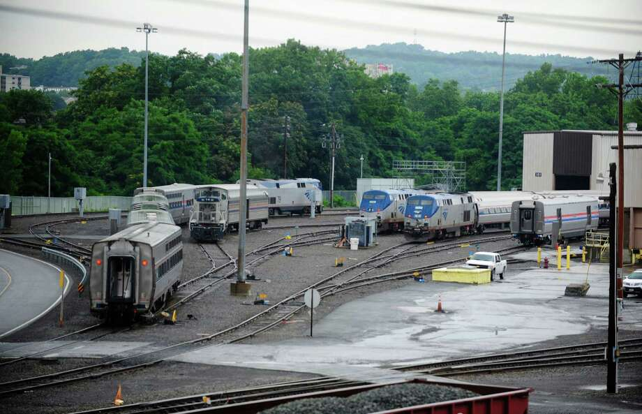 A view of the Amtrak train maintenance yard Tuesday, July 15, 2014, in Rensselaer, N.Y.  (Paul Buckowski / Times Union) Photo: Paul Buckowski / 00027795A