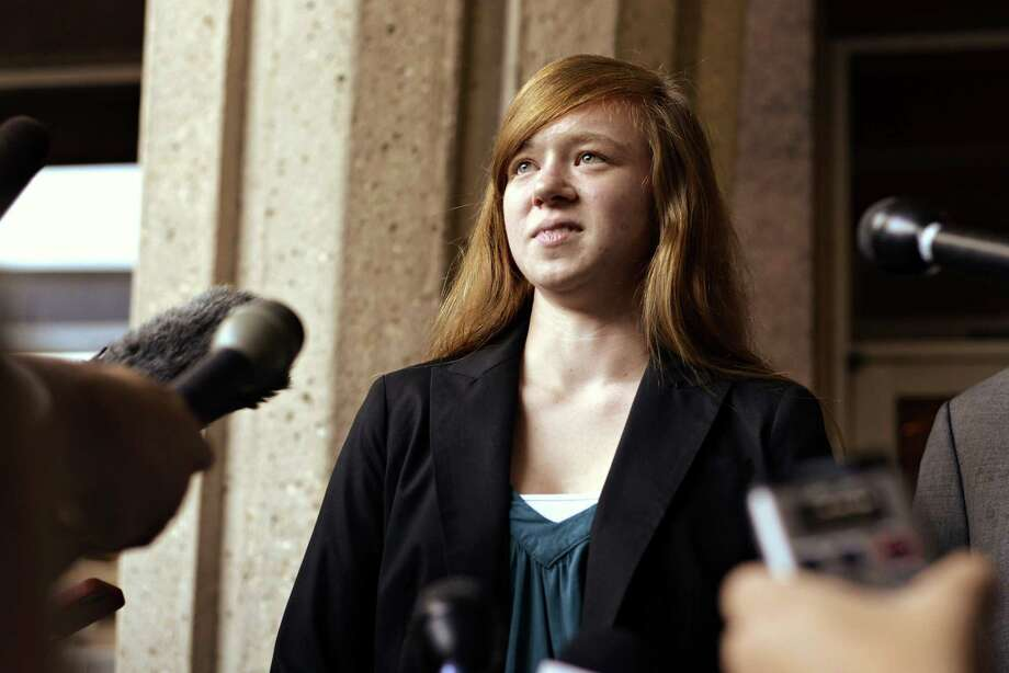 Rejected University of Texas applicant Abigail Fisher is asking a U.S. appeals court to consider her case one more time. Photo: Charlie Pearce, MBR / The Daily Texan