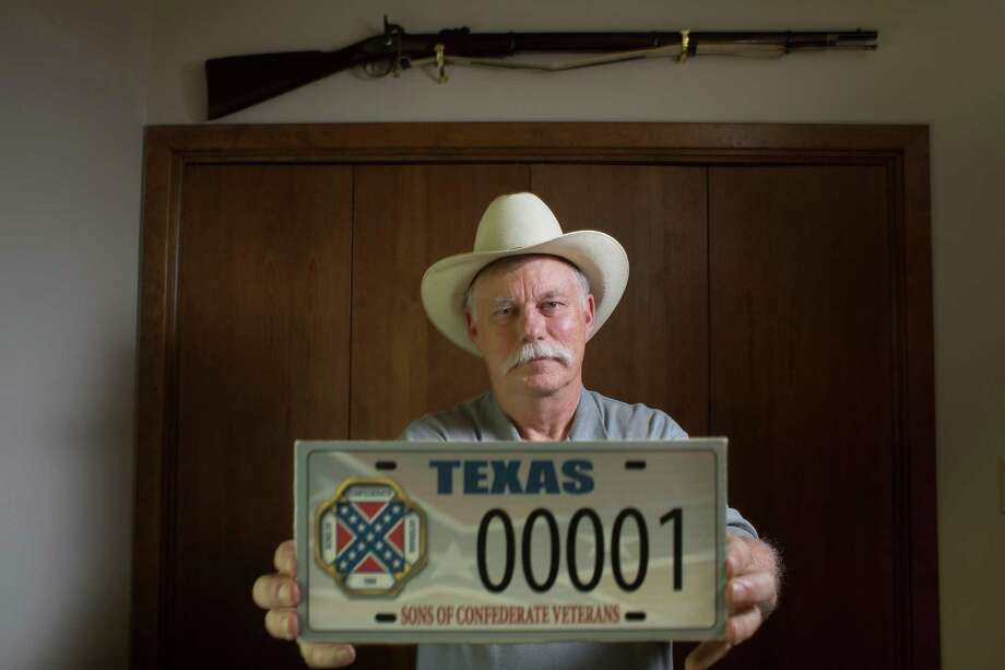 Ray James, a plaintiff in the suit, says the Sons of Confederate Veterans are historians, not haters. Photo: Johnny Hanson, Staff / © 2014  Houston Chronicle