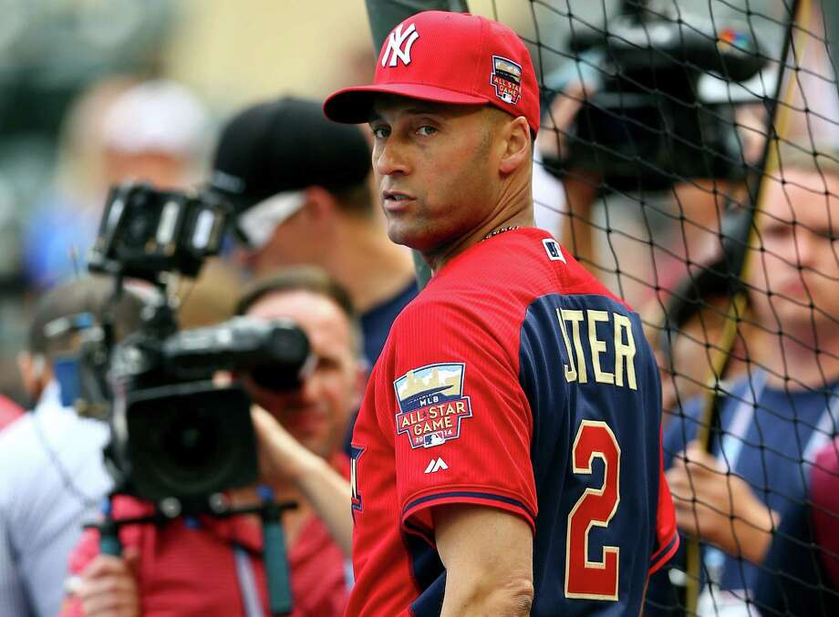 American League All-Star Derek Jeter #2 of the New York Yankees takes the field for batting practice prior to the 85th MLB All-Star Game at Target Field on July 15, 2014 in Minneapolis, Minnesota. Photo: Elsa, Getty Images / 2014 Getty Images