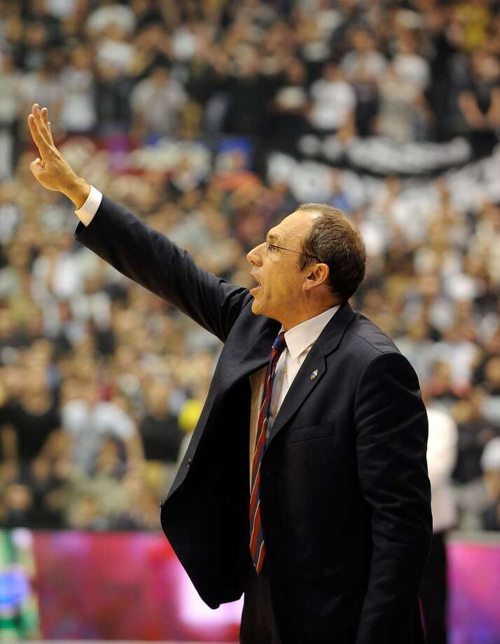 BELGRADE, SERBIA - DECEMBER 19: Ettore Messina, Head Coach of CSKA Moscow in action during the 2013-2014 Turkish Airlines Euroleague Regular Season Date 10 game between Partizan NIS Belgrade v CSKA Moscow at Pionir on December 19, 2013 in Belgrade, Serbia.  (Photo by Nebojsa Parausic/EB via Getty Images) Photo: Nebojsa Parausic, EB Via Getty Images