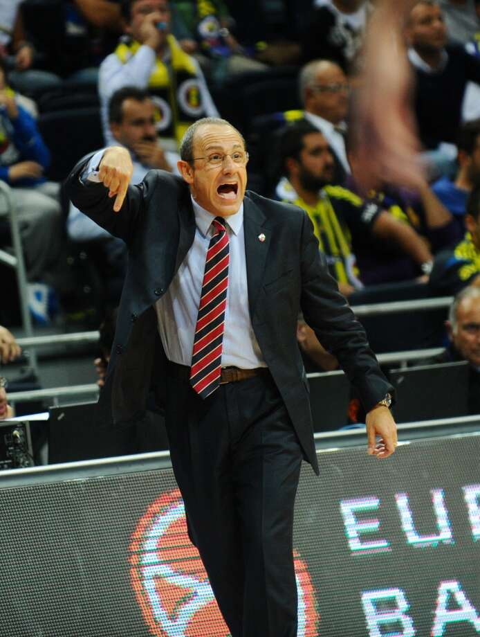 CSKA Moscow head coach Ettore Messina reacts during the Euro-League basketball match between Fenerbahce Ulker and CSKA Moscow on October 31, 2013 at the Fenerbahce Ulker Arena in Istanbul. Photo: BULENT KILIC, AFP/Getty Images