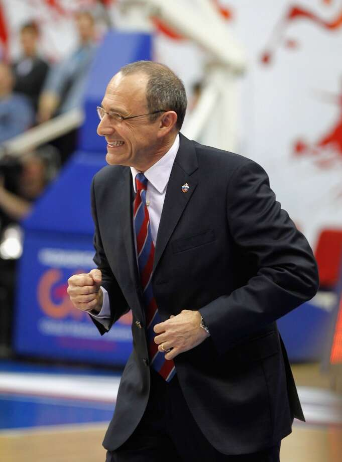 Ettore Messina in action during the 2012-2013 Turkish Airlines Euroleague Top 16 Date 9 between CSKA Moscow v Alba Berlin at A. Gomelsky Universal Sports Hall on March 1, 2013 in Moscow, Russia. Photo: Mikhail Serbin, EB Via Getty Images