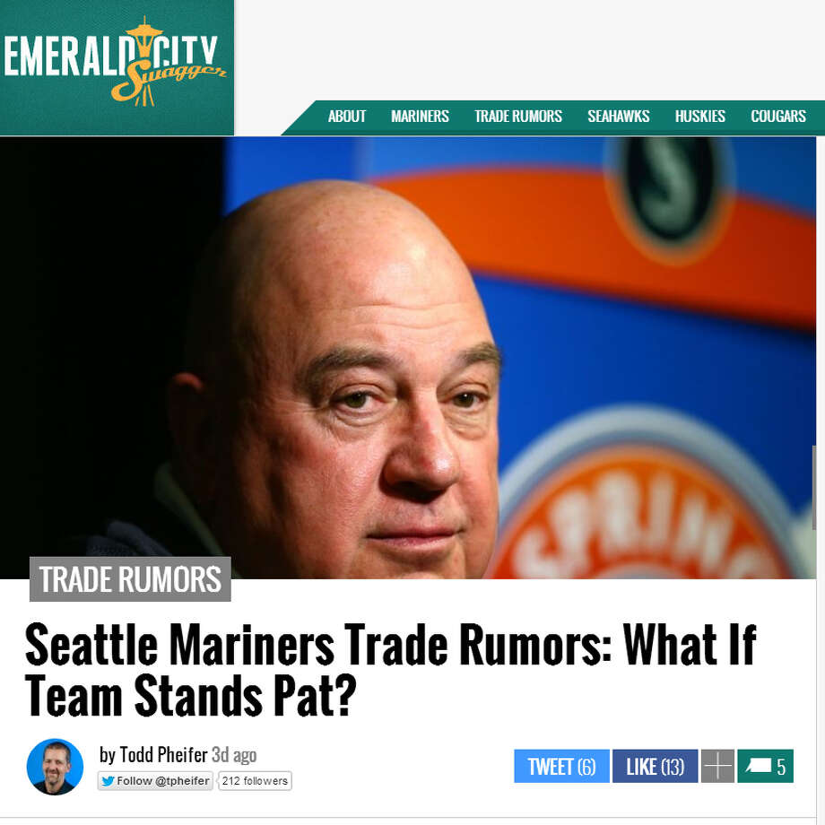 "Emerald City Swagger  Todd Pheifer asked an intriguing question over at Emerald City Swagger: What if the Mariners make no significant moves before the July 31 trade deadline? ""What must be remembered is that there are pros and cons to moving players,"" he wrote. ""An upgrade is not always a guarantee."" Photo: Screenshot, EmeraldCitySwagger.com"