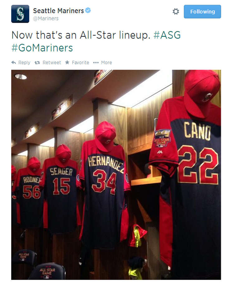 Seattle Mariners on Twitter  Finally, here's just one of many tweets by the official Seattle Mariners twitter account in anticipation of Tuesday's MLB All-Star Game. Seattle hadn't sent four players to the Midsummer Classic since 2003. Photo: Screenshot, Twitter.com