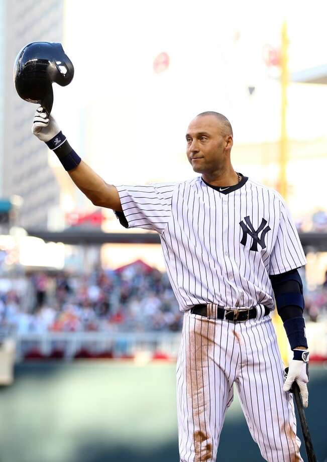 American League All-Star Derek Jeter #2 of the Yankees acknowledges the crowd before his first at bat. Photo: Elsa, Getty Images