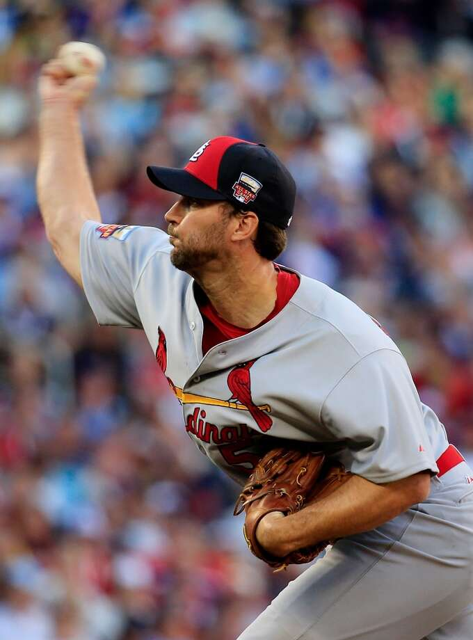 National League All-Star Adam Wainwright #50 of the Cardinals pitches against the American League All-Stars. Photo: Rob Carr, Getty Images