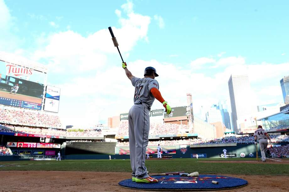 National League All-Star Giancarlo Stanton #27 of the Marlins stands in the on deck circle. Photo: Elsa, Getty Images