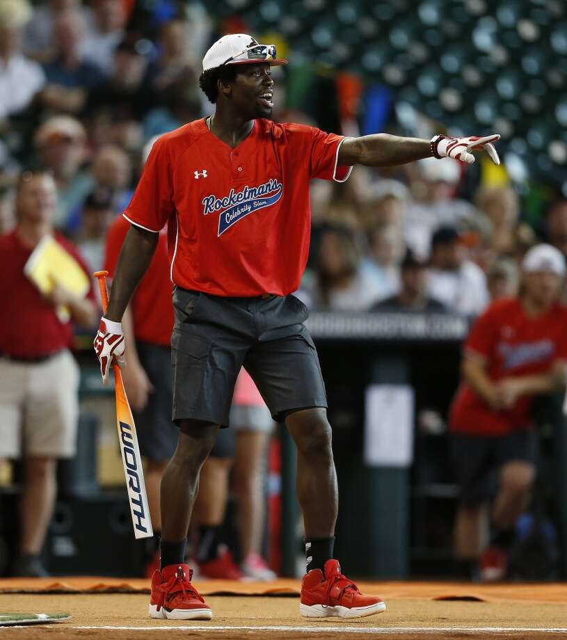 Patrick Beverley at bat. Photo: Karen Warren, Houston Chronicle