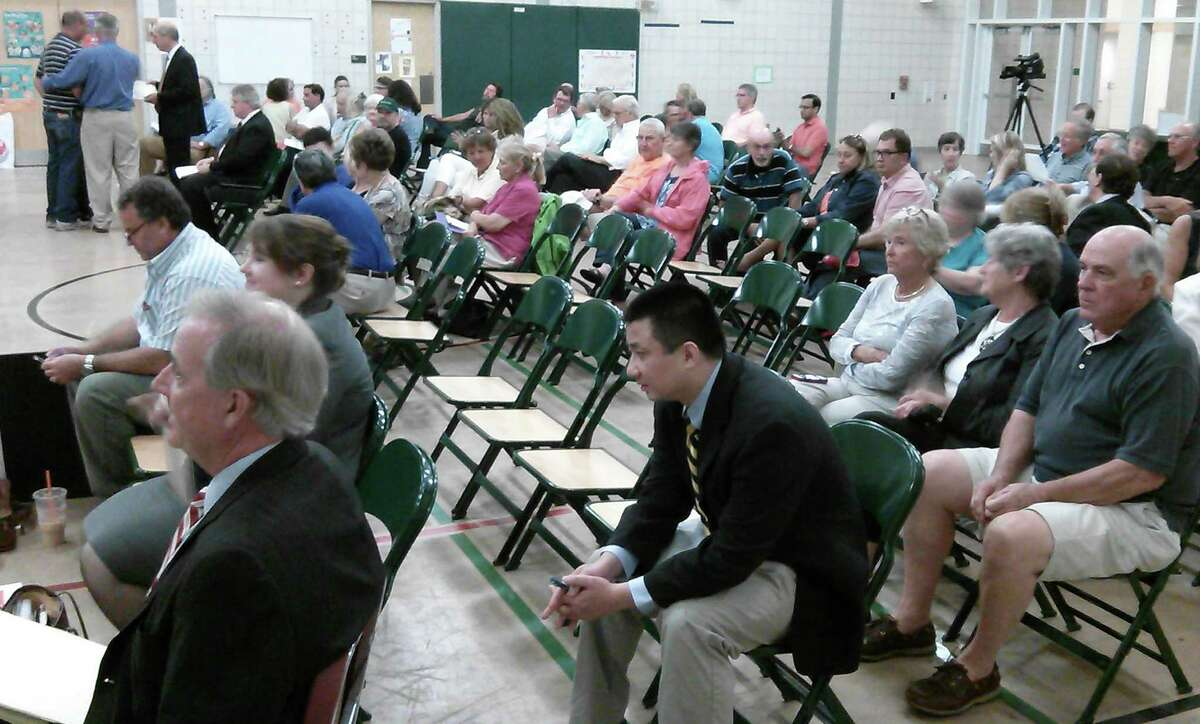 A large audience was on hand for the third Town Plan and Zoning Commission hearing within a week's time Tuesday on plans to build a 95-unit apartment complex on lower Bronson Road.
