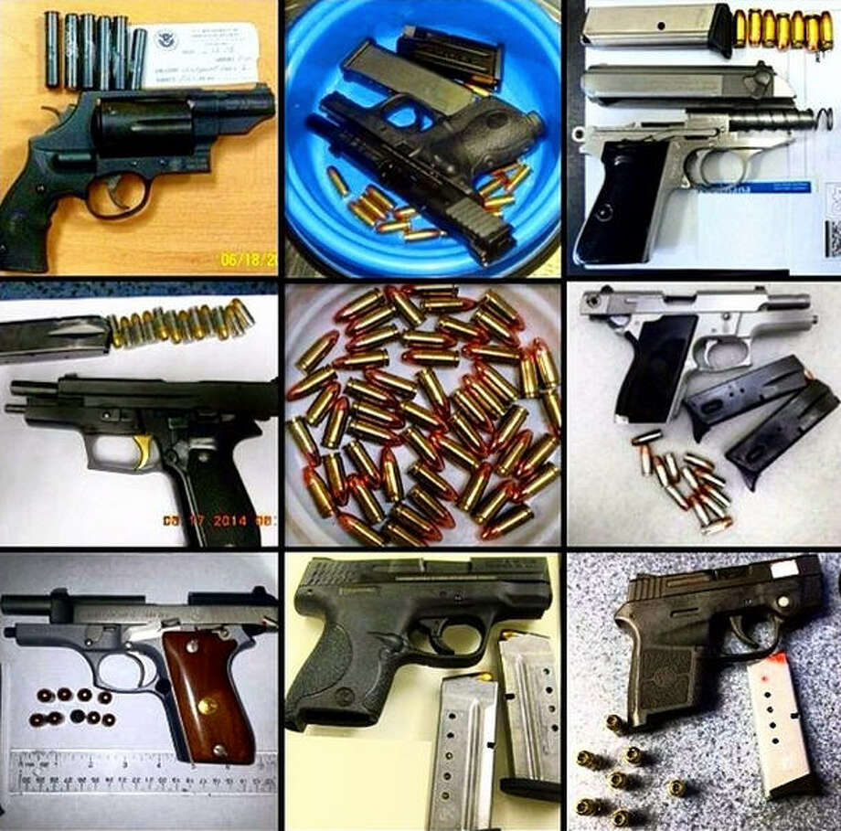 One-hundred-fifty loaded firearms were recovered by the TSA during June and the first part of July 2014 in airports across the country. Photo: TSA On Instagram