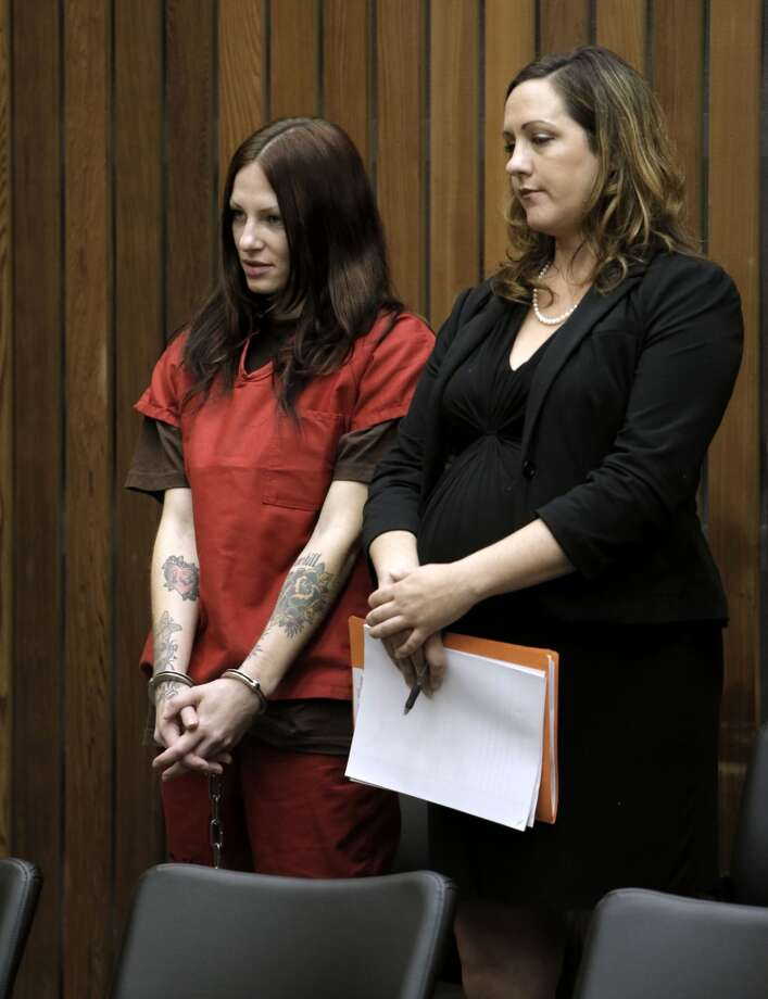 Alix Tichelman, (left) with her attorney Athena Reis is arraigned by Judge Timothy Volkman, in Santa Cruz Co. Superior court on Wednesday July 16, 2014, in Santa Cruz, Calif. Photo: Michael Macor, The Chronicle