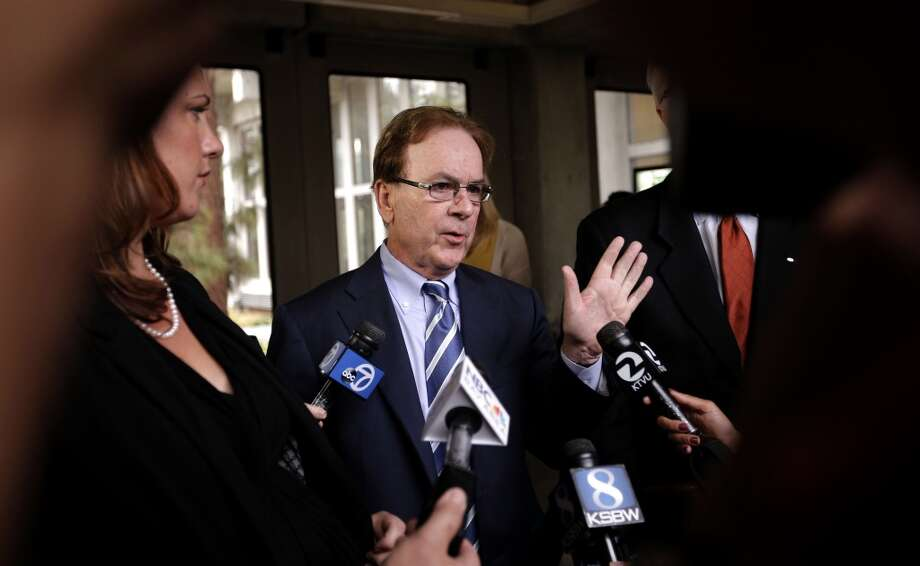 Attorneys Athena Reis, (left) and Larry Biggam speak with the media following the arraignment for manslaughter suspect Alix Tichelman by Judge Timothy Volkman, in Santa Cruz Co. Superior court on Wednesday July 16, 2014,  in Santa Cruz, Calif. Photo: Michael Macor, The Chronicle