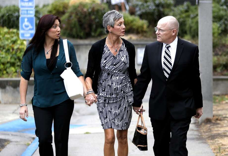 The family of manslaughter suspect Alix Tichelman, Monica, (sister) and Leslie, (mother) and Bart (father)Tichelman leaving the courthouse after  the arraignment by Judge Timothy Volkman, in Santa Cruz Co. Superior court on Wednesday July 16, 2014, in Santa Cruz, Calif. Photo: Michael Macor, The Chronicle