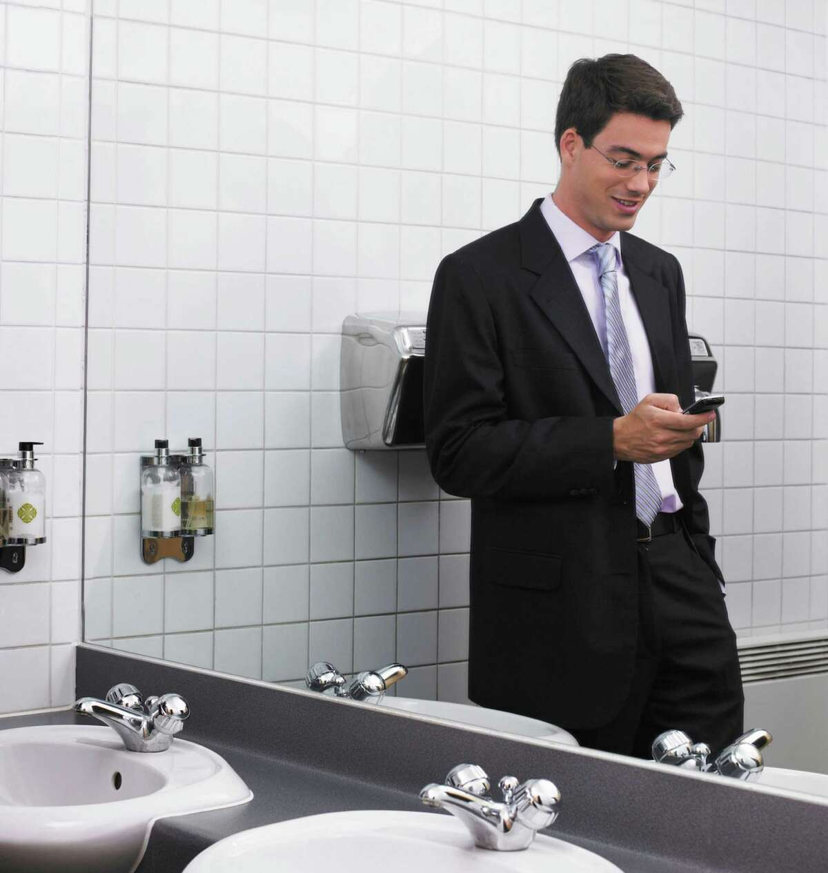 53 percent use their smartphones in the bathroom.