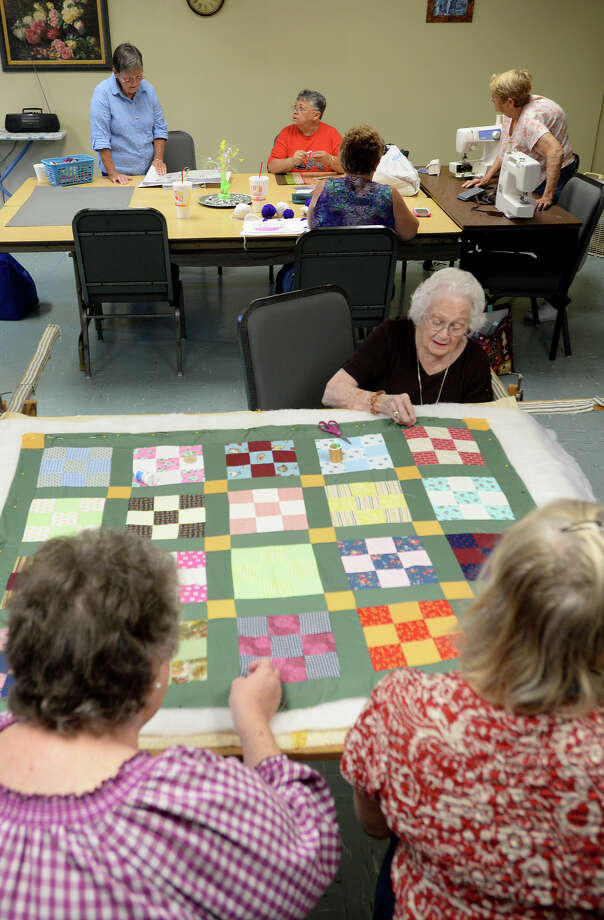 The Journey Community Church Stitchers meet at the church on Tuesdays at 9 a.m. Ranging in a variety of ages, the group sews until the afternoon and shares a lunch.   Photo taken Tuesday, July 8, 2014 Guiseppe Barranco/@spotnewsshooter Photo: Guiseppe Barranco, Photo Editor