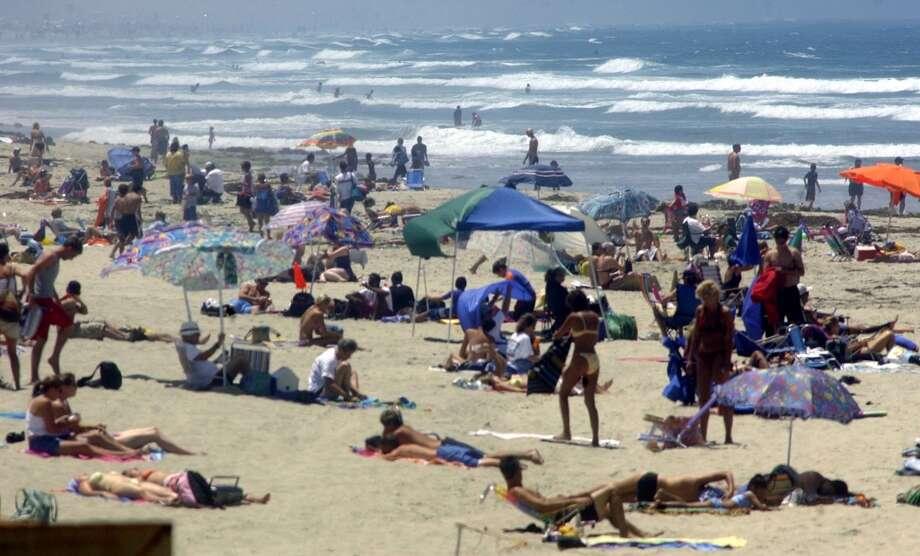 San Diego, California  Summer temperature in 2014: 78.17 F  Summer temperature in 2100: 84.61 F Photo: Sandy Huffaker, Getty Images