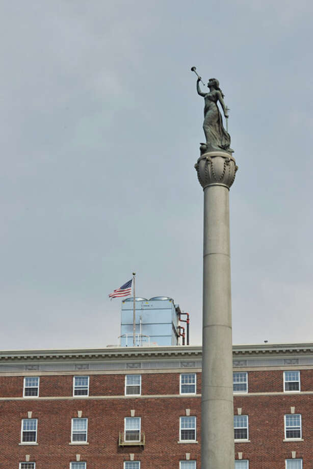 Soldiers and Sailors Monument is a war monument in Monument Square, at Broadway and 2nd Street in Troy. It honors those from Rensselaer County who served in the Revolutionary War, the War of 1812 and the American Civil War. Photo: Tony Pallone, 518Life