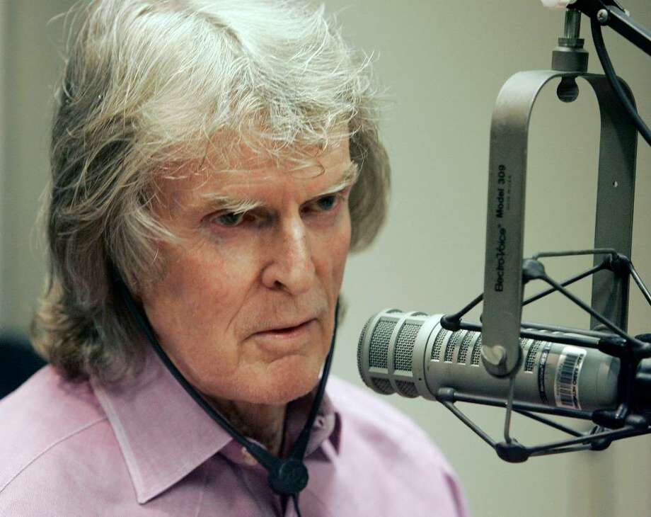 ** FILE ** In this April 9, 2007 file photo, radio personality Don Imus appears on the Rev. Al Sharpton's radio show, in New York.  (AP Photo/Richard Drew, file) Photo: Richard Drew, AP / AP
