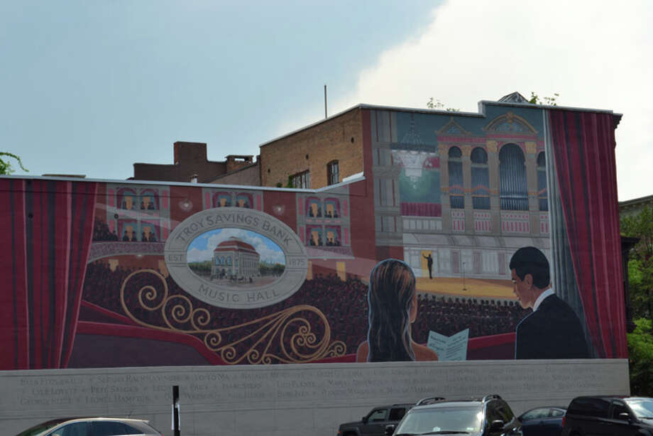 A mural depicting Troy Savings Bank Music Hall. Photo: Tony Pallone, 518Life