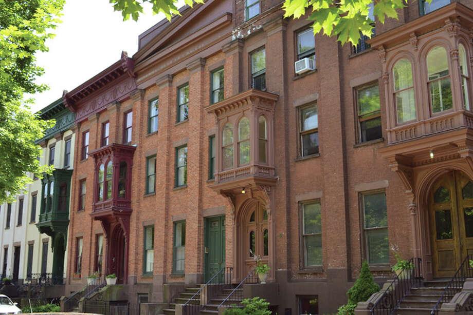 Houses off of Washington Park in Troy. Photo: Tony Pallone, 518Life