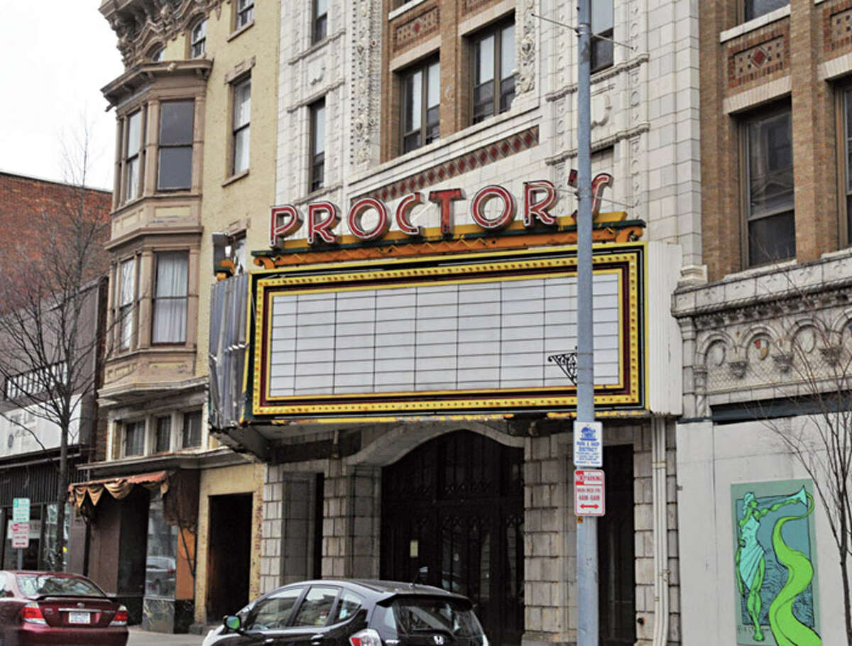 Exterior of the old Proctor's theater on 4th Street in Troy Wednesday afternoon March 23, 2011. (John Carl D'Annibale / Times Union)