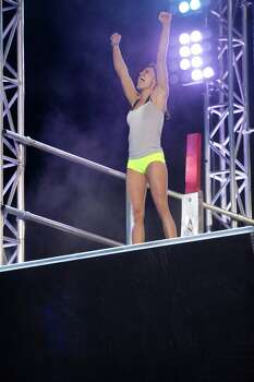 "San Antonio's Kacy Catanzaro competes on ""American Ninja Warrior"" on NBC. Photo: NBC, Peter Larsen/NBC / 2014 NBCUniversal Media, LLC"