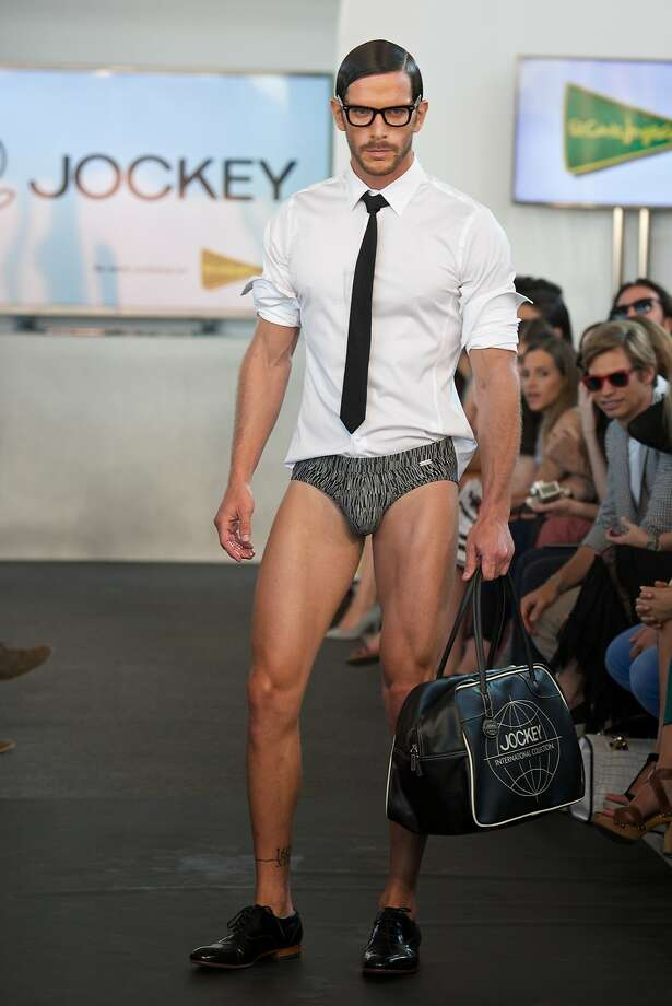 """The latest trend in menswear,according to the MFSHOW (Men Fashion Show) at COAM in Madrid, is """"I forgot my pants."""" Photo: Carlos Alvarez, Getty Images"""