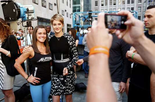 """American Ninja Warrior"" contestant Kacy Catanzaro and Shailene Woodley appear on NBC News' ""Today"" show. Photo: NBC NewsWire, Getty Images / 2014 NBCUniversal Media, LLC."