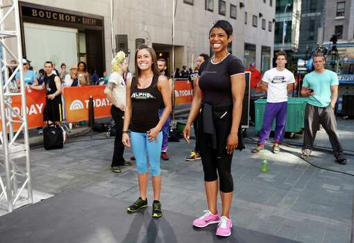 """American Ninja Warrior"" contestant Kacy Catanzaro and Jacque Reid appear on NBC News' ""Today"" show. Photo: NBC NewsWire, Getty Images / 2014 NBCUniversal Media, LLC."