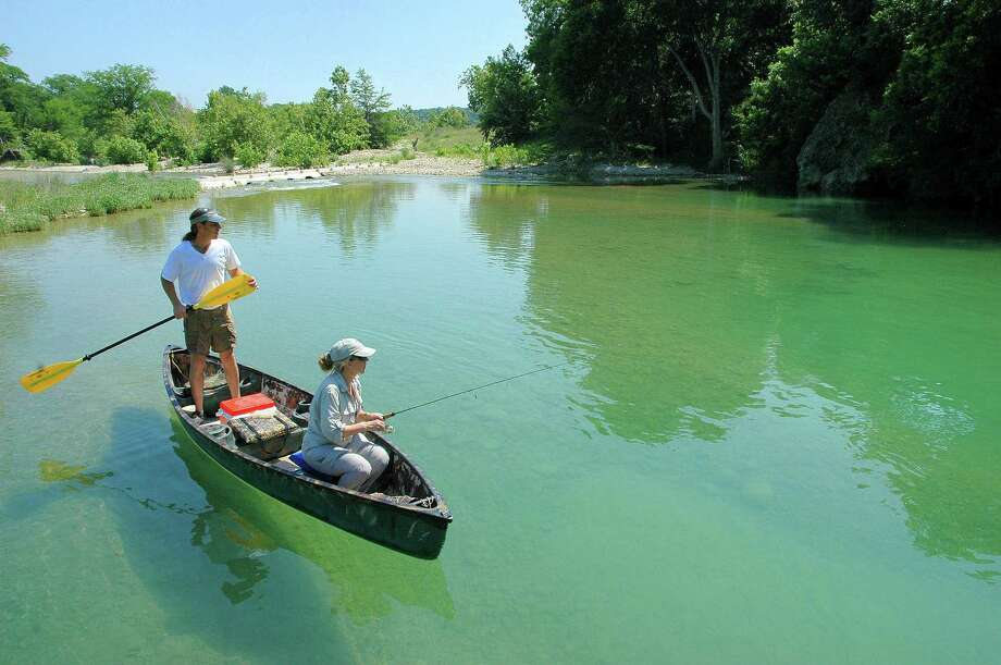 Clear, cool water from spring-fed origins, abundant shade, wonderful scenery, a plentitude of fish make  the Blanco River on the eastern edge of the Texas Hill Country a treasure float-fishing anglers able to access the waterway.    Houston Chronicle/ Shannon Tompkins Photo: SHANNON TOMPKINS, HOUSTON CHRONICLE / HOUSTON CHRONICLE