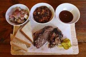 Barbecue board at The Granary (Lisa Krantz/San Antonio Express-News)