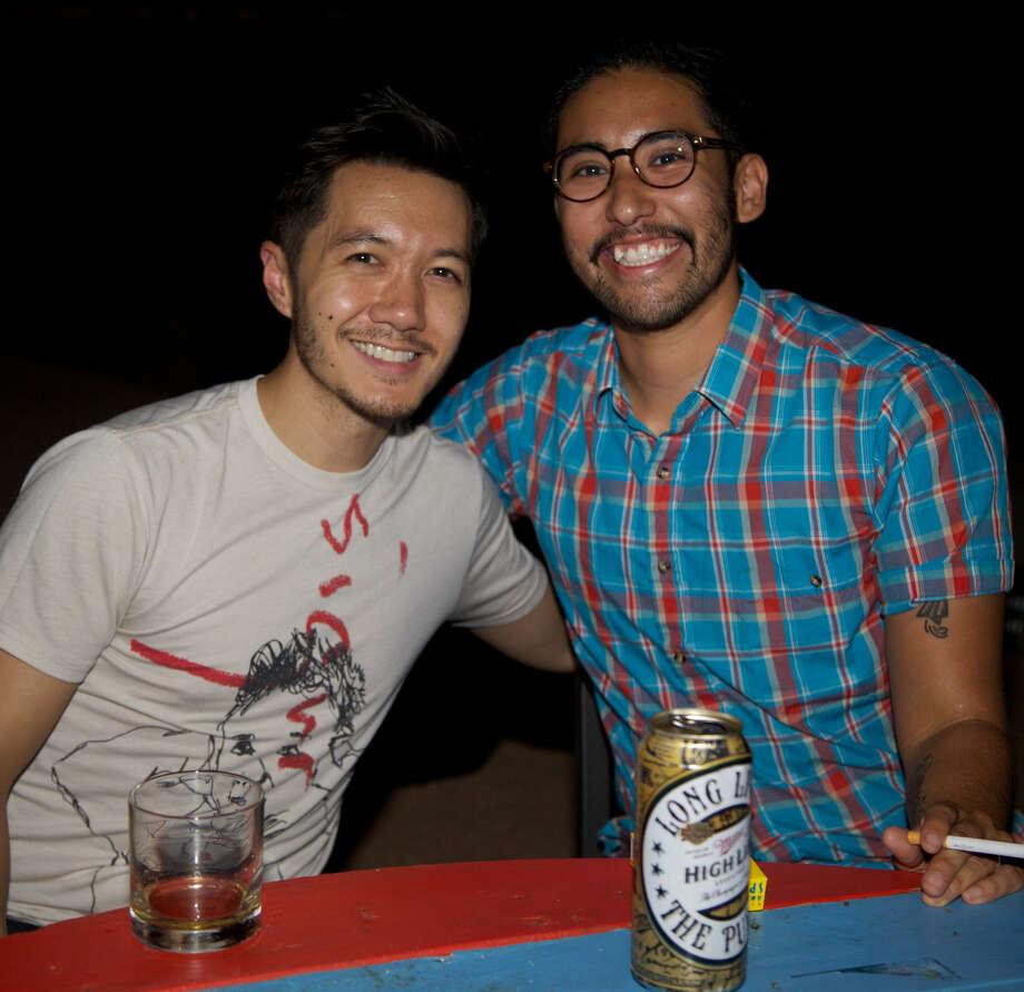 Chris Ignacio (left) and Vincent Luna Photo: Photos By Xelina Flores / For The Express-News
