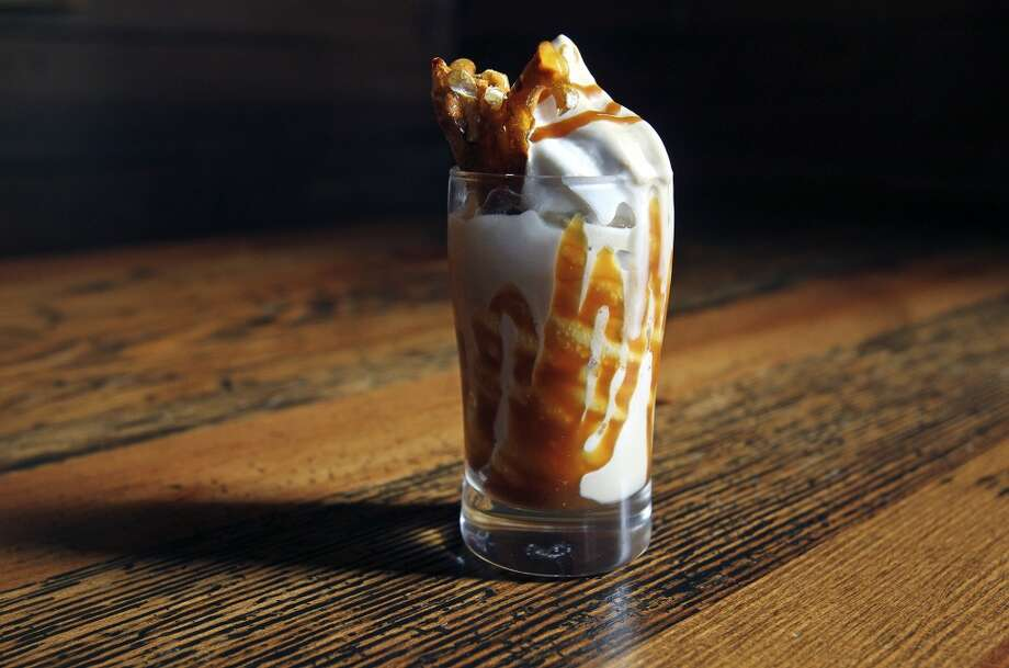 The Granary serves up a beer and pretzel ice cream on October 17, 2013. Photo: San Antonio Express-News