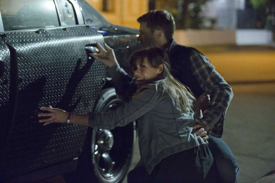 "Liz (Kiele Sanchez) and husband Shane (Zach Gilford) try to survive a night of legal mayhem in ""The Purge: Anarchy."" Photo: Justin Lubin, Universal Pictures"