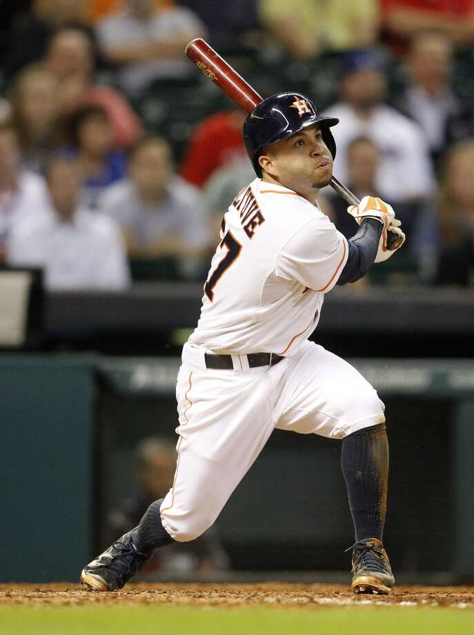 With 130 hits, Jose Altuve has broken the Astros' record of hits (124) before the All-Star break and is on pace for a team record for hits in a season. Here's a look at the 10 best in franchise history. Photo: Karen Warren, Houston Chronicle